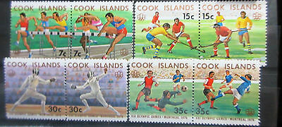 Cook Islands 1976 Olympic Games Set. MNH.