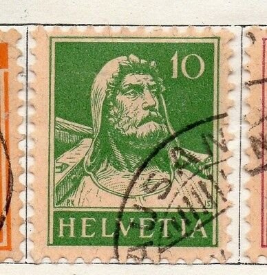 Switzerland 1921 Early Issue Fine Used 10c. 133365