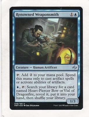 4 Renowned Weaponsmith ~ Blue Fate Reforged Mtg Magic Uncommon 4x x4