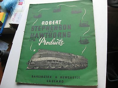 Robert Stephenson & Hawthorns catalogue