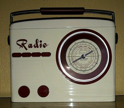 Collectable Embossed Tin - Vintage Radio Style