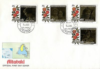 Aitutaki 1985 Queen Mother FDC
