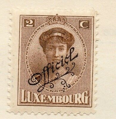 Luxembourg 1937 Early Issue Fine Mint Hinged 2c. Optd 133868