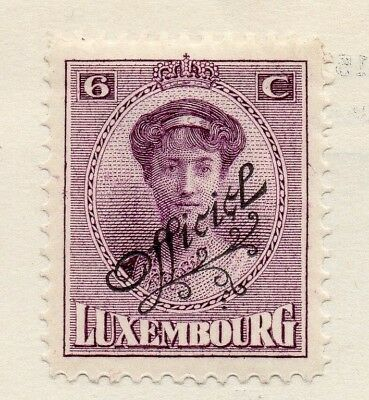 Luxembourg 1937 Early Issue Fine Mint Hinged 6c. Optd 133870