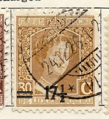 Luxembourg 1916 Early Issue Fine Used 17.5c. Surcharged 133884