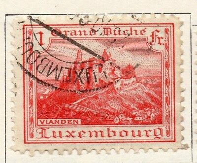 Luxembourg 1921 Early Issue Fine Used 1F. 133886