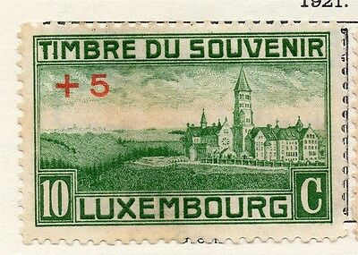 Luxembourg 1921 Early Issue Fine Mint Hinged 10c. +5 Surcharged 133889