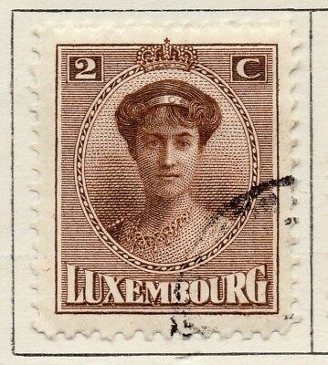 Luxembourg 1921 Early Issue Fine Used 2c. 133892
