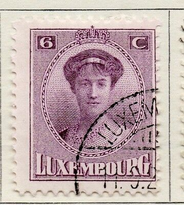 Luxembourg 1921 Early Issue Fine Used 6c. 133894