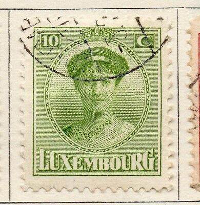 Luxembourg 1921 Early Issue Fine Used 10c. 133895