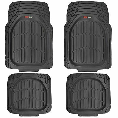 (Closeout) MotorTrend FlexTough Tortoise Heavy-Duty All-Weather Floor Mats Black