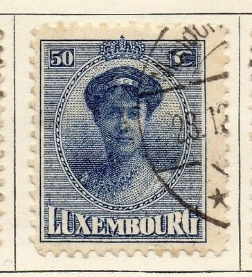 Luxembourg 1921 Early Issue Fine Used 50c. 133902