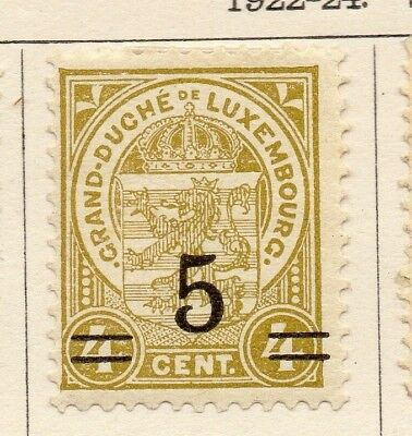 Luxembourg 1922-24 Early Issue Fine Mint Hinged 5c. Surcharged 133906