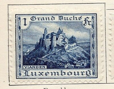 Luxembourg 1924-26 Early Issue Fine Mint Hinged 1F. 133923