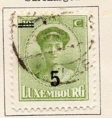 Luxembourg 1925 Early Issue Fine Mint Hinged 5c. Surcharged 133925
