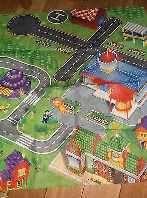 Noddy play mat and Tessie bear and PC Plod figures.