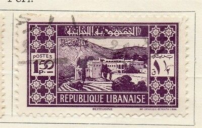 Great Lebanon 1930 Early Issue Fine Used 1.50p. 133992