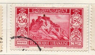 Great Lebanon 1930 Early Issue Fine Used 4.50p. 133994