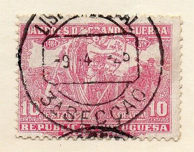 Portugal 1923 Early Issue Fine Used 10c. Postmark 133668