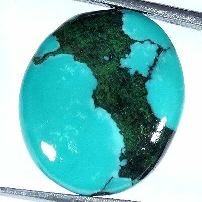 9.05Cts 100% NATURAL DESIGNER TIBET TURQUOISE OVAL CABOCHON UNTREATED GEMSTONE
