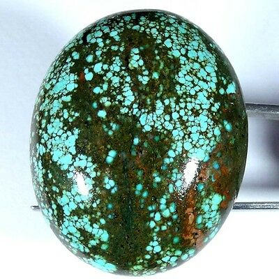 84.00Cts 100% NATURAL GORGEOUS TIBET TURQUOISE OVAL CABOCHON UNTREATED GEMSTONE