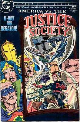 America vs. the Justice Society #4 in Near Mint - condition. FREE bag/board