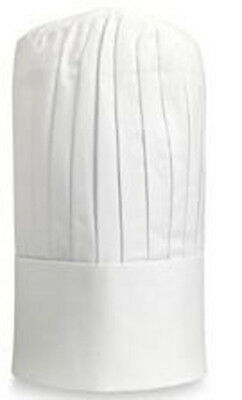 Tall Chef Hat White-With Adjust Velcro. One Size Fits Most.