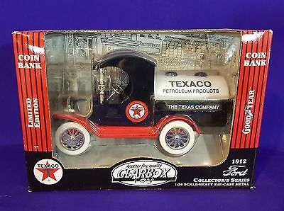 1912 Ford Oil Tanker - Texaco.  Heavy Die Cast Metal 1:24 Scale Coin Bank