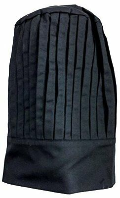 Tall Chef Hat Black. One Size Fits Most.