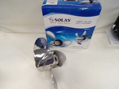 Solas Titan Omc 2542-153-17 Stainless Steel Lh Propeller 15 1/4 X 17 Pitch Boat