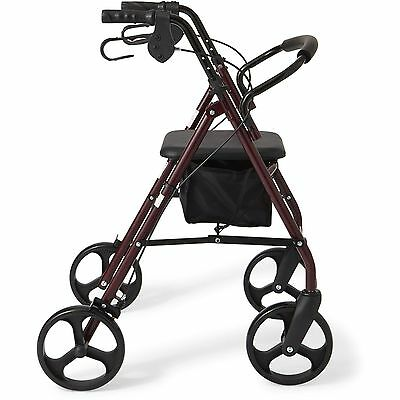 "NEW Rollator 8"" Casters Rolling Walker Senior Walker with Padded Seat"