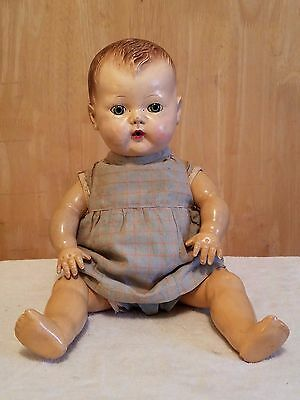 "Vintage 1950's American Character 13"" ~ Tiny Tears Baby Doll ~ Pat. 2,675,644"