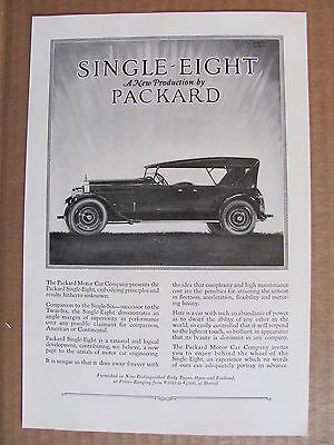 1923 Packard Single Eight Automobile Ad