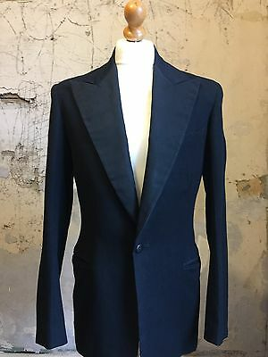 Vintage 1930's Bespoke Three 3 Piece Dinner Suit Size 38 40 Long