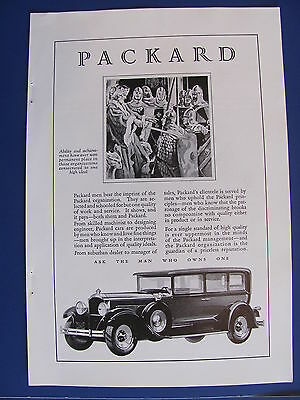1929 Packard  Automobile Ad   #2