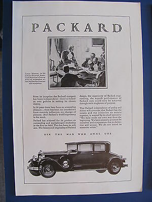 1929 Packard  Automobile Ad   Ask The Man Who Owns One