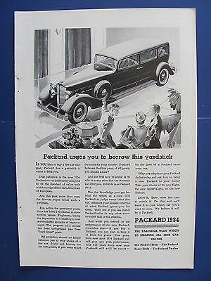 1934 Packard Automobile Ad   Borrow This Yardstick