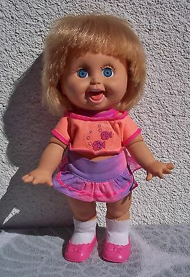 1990 Galoob Baby Face Doll So Playful Penny #10 Original Outfit Dressed Blonde