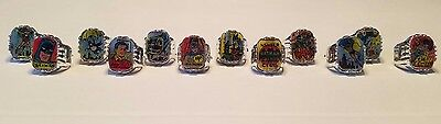 Vintage Set Of 12 1966 Original Batman Vari-Vue Flicker Rings Nos!! Sweet!!