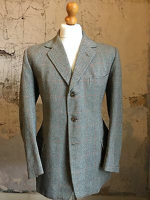 Mens Vintage Three 3 Piece Savile Row Bespoke Tweed Suit Size 40