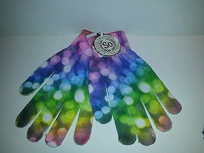 Womens Authentic American Heritage Colorful Print Gloves Various Styles One Size