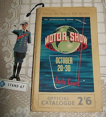 1954 39th INTERNATIONAL MOTOR SHOW / EXHIBITION OFFICIAL CATALOGUE Earls Court