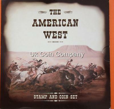 American West Stamp And Coin Collection Set