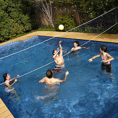 Pool Volley Ball 16ft (4.8mtrs) Net & Ball Set, Swimming Pool Volleyball Game