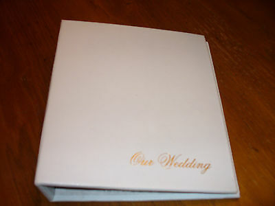 Holson Our Wedding White Photo Album Picture Book  Holds 200 4x6 photos