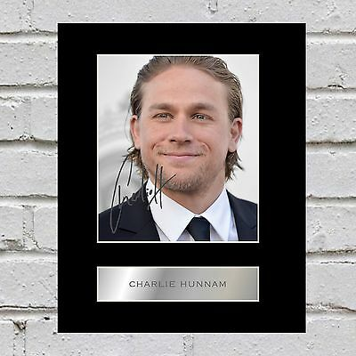 Charlie Hunnam Signed Mounted Photo Display