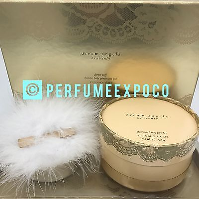 Victoria's Secret Perfume Dream Angel Heavenly SHIMMER BODY POWDER 1.0oz & PUFF