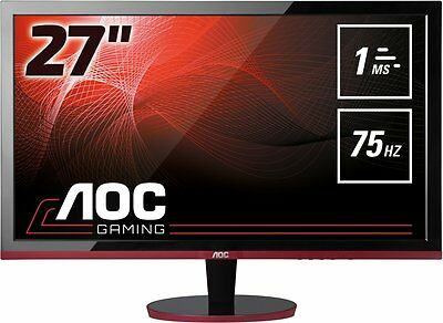"AOC G2778VQ 27"" LED LCD Gaming Monitor 1MS FHD VGA HDMI DP Speaker FreeSync"