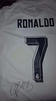 Real Madrid Signed 100% Authentic Cristiano Ronaldo Jersey! With Coa!