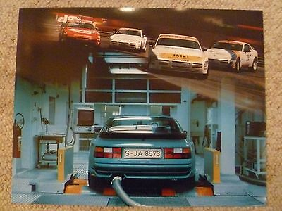 1987 Porsche 944 Turbo Showroom Advertising Sales Poster RARE!! Awesome L@@K